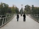 A passeggio sulla passarella pedonale di Madonna del Pilone