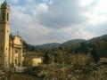 Vista della chiesa di Reaglie