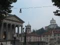 La chiesa della Gran Madre di Dio e sullo sfondo il Monte dei Cappuccini