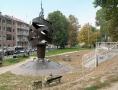 Monumento a Fausto Coppi nei pressi del Motovelodromo