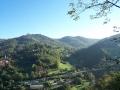 Panorama della collina visto dal belvedere di Parco Ottolenghi