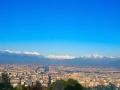 Vista su Torino e sull'arco alpino dal Colle della Maddalena